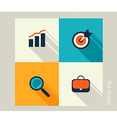 Business icon set management marketing e-commerce vector
