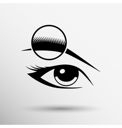 Human eye isolated eye eyebrow human female makeup vector