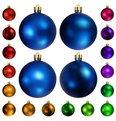 Set of colored christmas balls vector