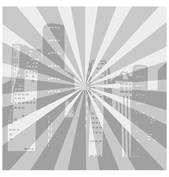 Retro cityscape vector