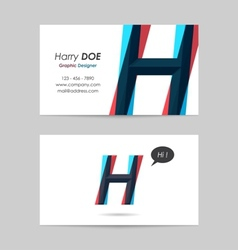 Business card template - letter h vector