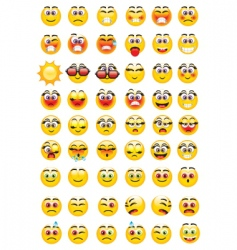Emoticons expressions vector