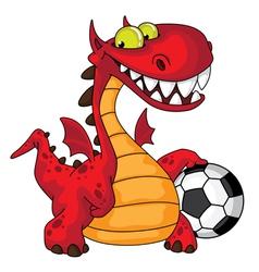 Dragon and ball vector