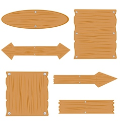Wooden boards on white background vector