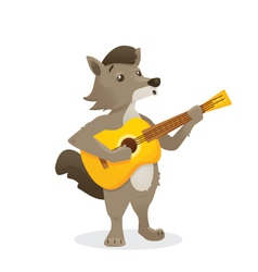 Musical animals vector
