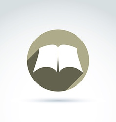 Open book with blank sheets placed in a circle vector
