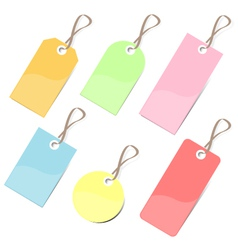 Colorful tags vector