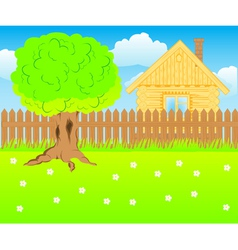 Lodge on nature vector