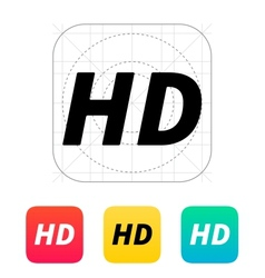 Hd quality video icon vector