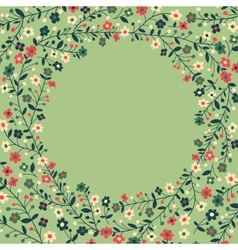 Beautiful frame of flowering branches vector
