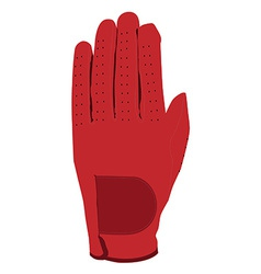 Red glove vector