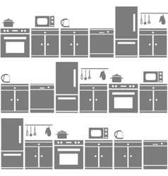 Kitchen equipment seamless pattern vector