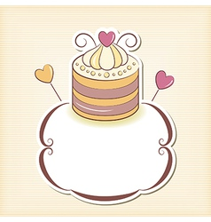Cute cupcake design frame vector