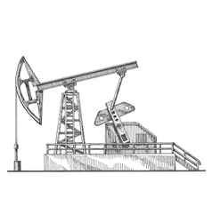 Oil rocking logo design template petroleum vector