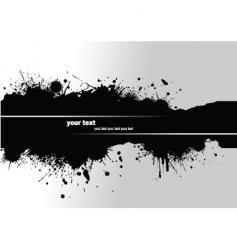 Grunge blot banner vector