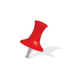 Red push pin vector