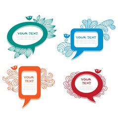 Colorful labelsspeech bubbles set vector