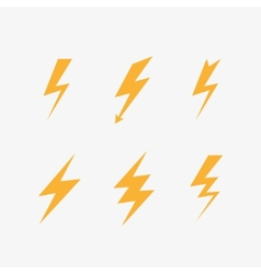 Lightning icons vector