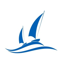 Sailing or yachting emblem vector