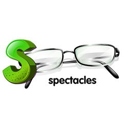 A letter s for spectacles vector