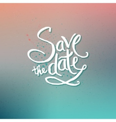 Save the date concept on abstract background vector