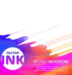 Beautiful colorful ink splash design vector