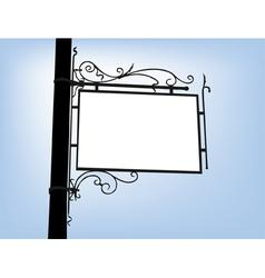 Retro signboard vector