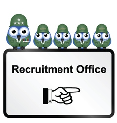 Army recruitment vector