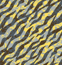 Yellow and grey zebra stripe vector