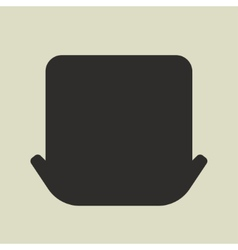 Black silhouette of leprechaun hat on white vector