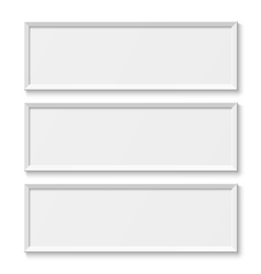 White picture frames isolated on white background vector