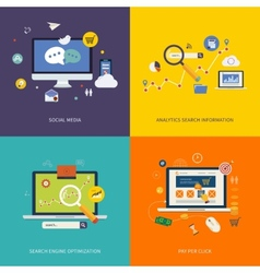 Internet advertising icons vector