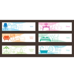 Furniture concept banner vector
