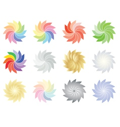 Spectrum and color flowers vector