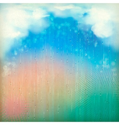 Colorful rain vintage abstract retro background vector