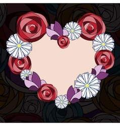 Abstract floral background heart vector