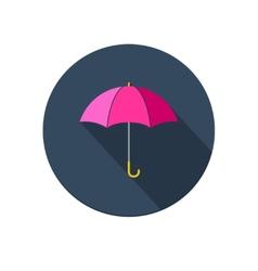 Pink umbrella icon vector