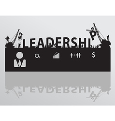 Construction site crane building leadership text vector