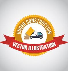 Construction design over white background vector