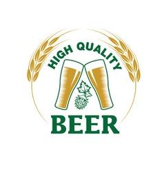 High quality beer emblem vector