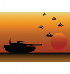 Tank helicopters vector