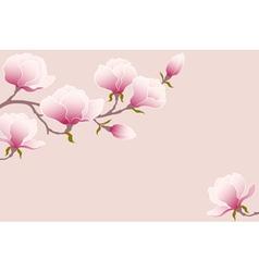Tender magnolia vector