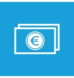Euro bill icon vector