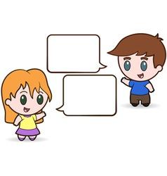 Children talking vector