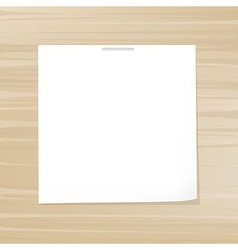 Blank note paper vector