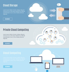 Element of computer cloud concept icon in flat vector
