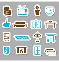 Living room stickers vector