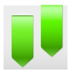 Set of popular green ribbons sticker on top vector