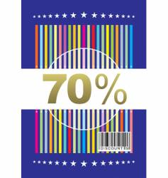 Promotion card vector