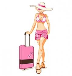 Vacation girl vector